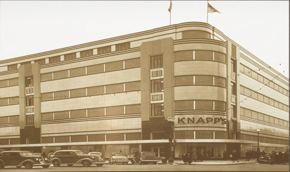 Knapp's in downtown Lansing, showcasing the growth of Lansing in the 1940s.