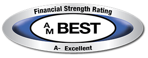 AM Best Financial Strength Rating A- Excellent.